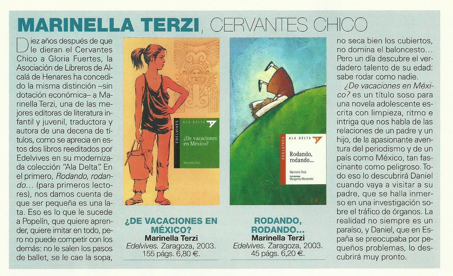 REVISTA-LEER-CERVANTES-CHICO Marinella Terzi